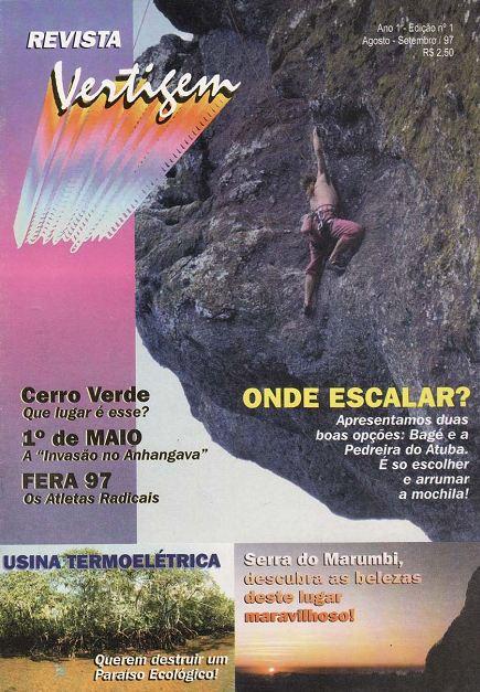 Revista VERTIGEM, uma publicação paranaense que durou apenas 4 edições entre 1997 e 1999.